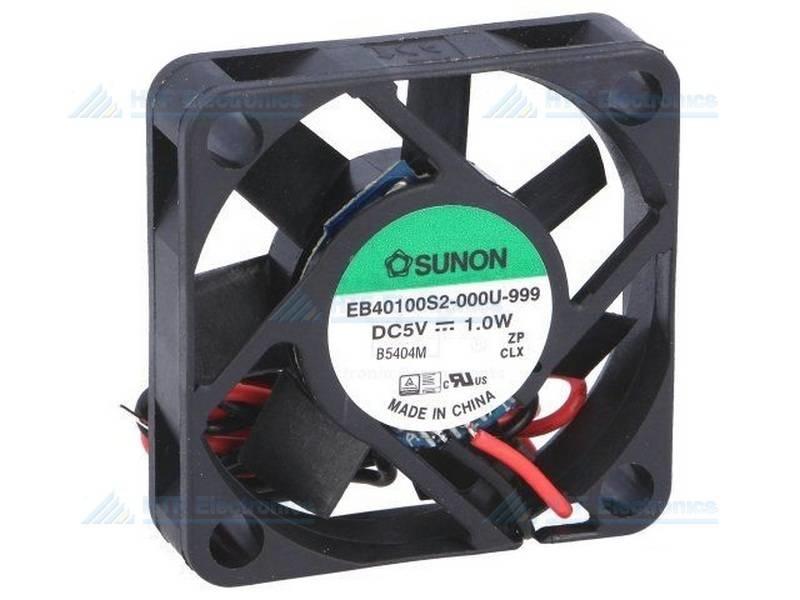 SUNON Borstelloze Ventilator 40x40x10mm 5V DC