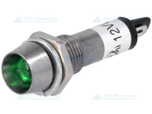 NINIGI LED Indicator Groen 12V, met metalen houder en geïntegreerde weerstand