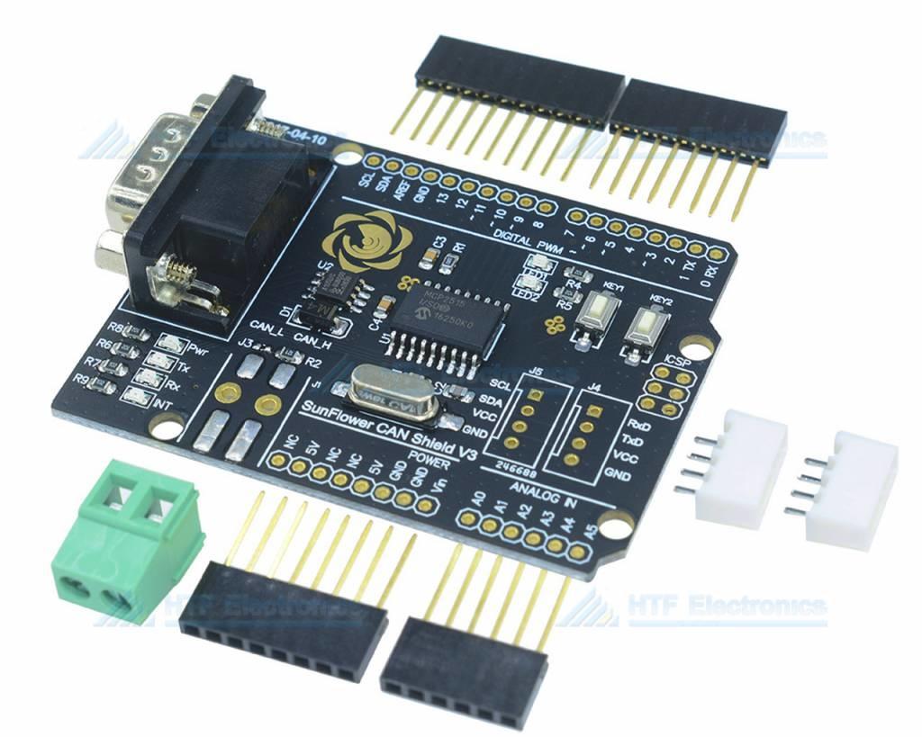 MCP2515 CAN-Bus Shield for Arduino