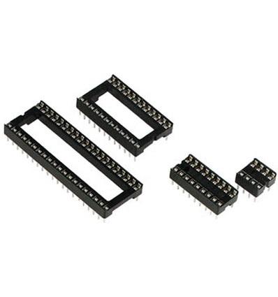 IC voet 18 pins  Smal