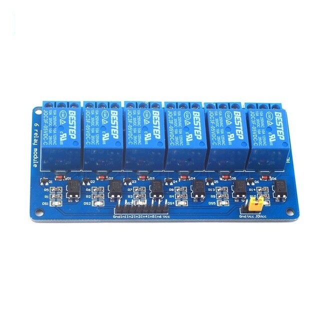 5V 6 Channel Relay Module with Light Coupling