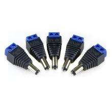 DC Power Plug Male Blue 2.1 x 5.5 mm