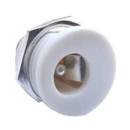 DC Power Connector 2.5 x 5.5 mm White