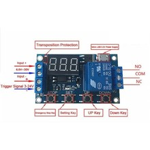 Channel Delay Power-off Relais Module met Cycle Timing Circuit Switch