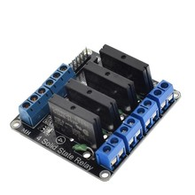 4 Channel 5v Low Level solid state relay module 250v 2a fuse