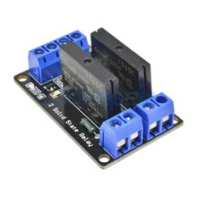 2 Channel 5v Low Level solid state relay module 250v 2a fuse