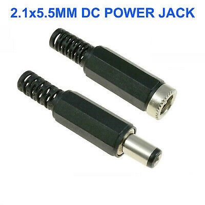 DC Power plug Male and Female 2.1x5.5mm