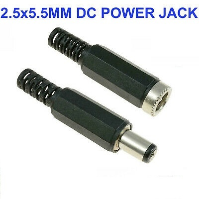 DC Power plug Male and Female 2.5x5.5mm
