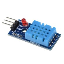 dht11 temperature humidity sensor with led