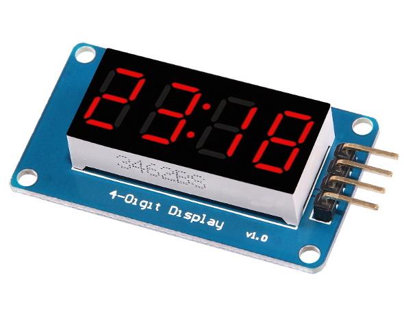 4 Bits TM1637 LED Display Module & Clock