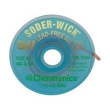 Chemtronics Desoldeerlint W:2mm; L:1,5m  Voor loodvrij soldeertin