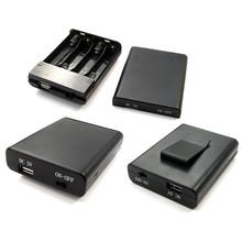 COMF 4x 1,5V AA Batterijhouder met deksel, schakelaar en USB aansluiting