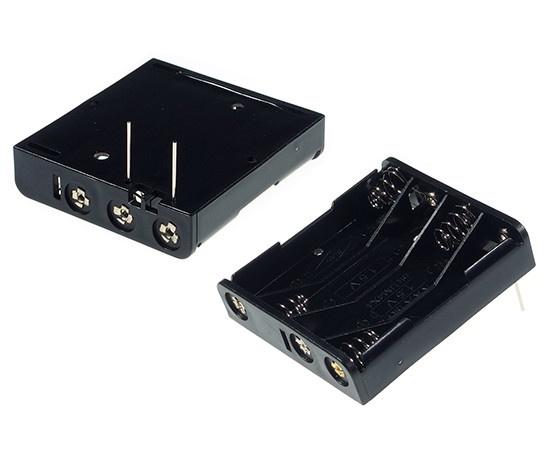 COMF 4 x 1.5V AAA Batterij Houder met een uitgang voor printplaten