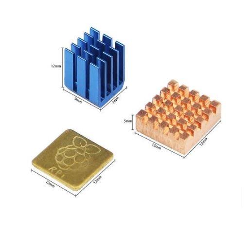 3x Aluminium koellichaam (heatsink) voor de Raspberry Pi