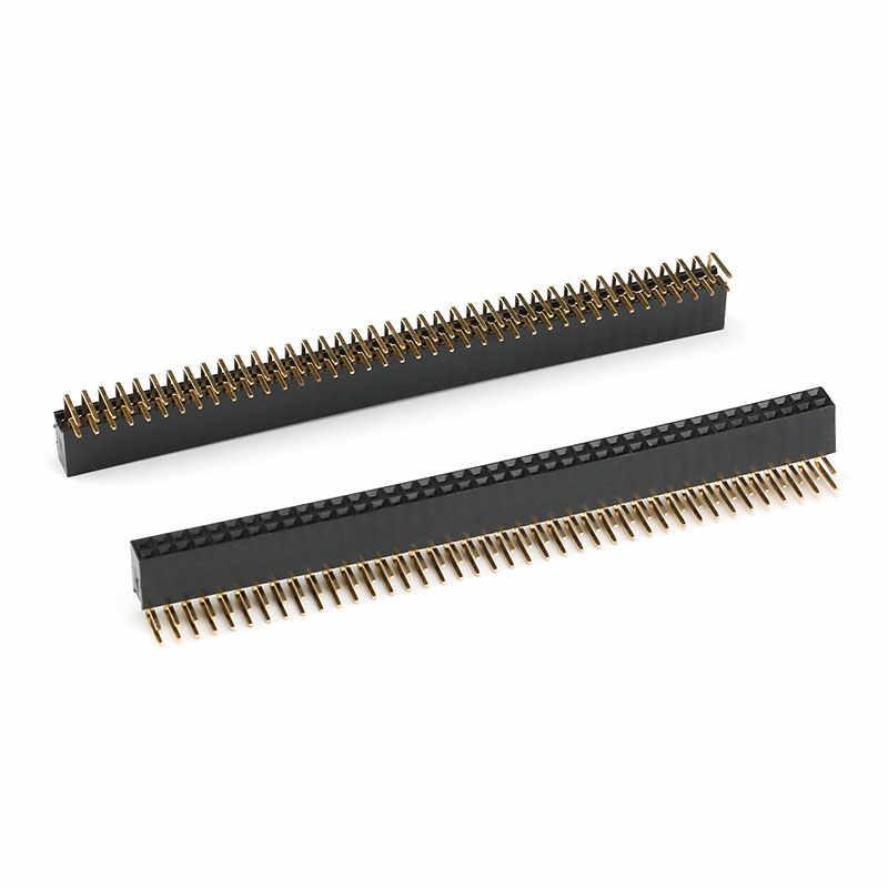 Header Female 2x40 pins 90 graden