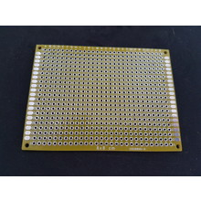PCB Double-sided Yellow 6x8cm FR4
