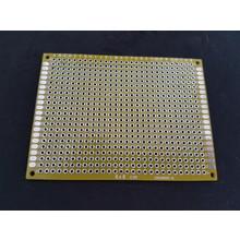 PCB Dubbelzijdig Geel 6x8cm FR4