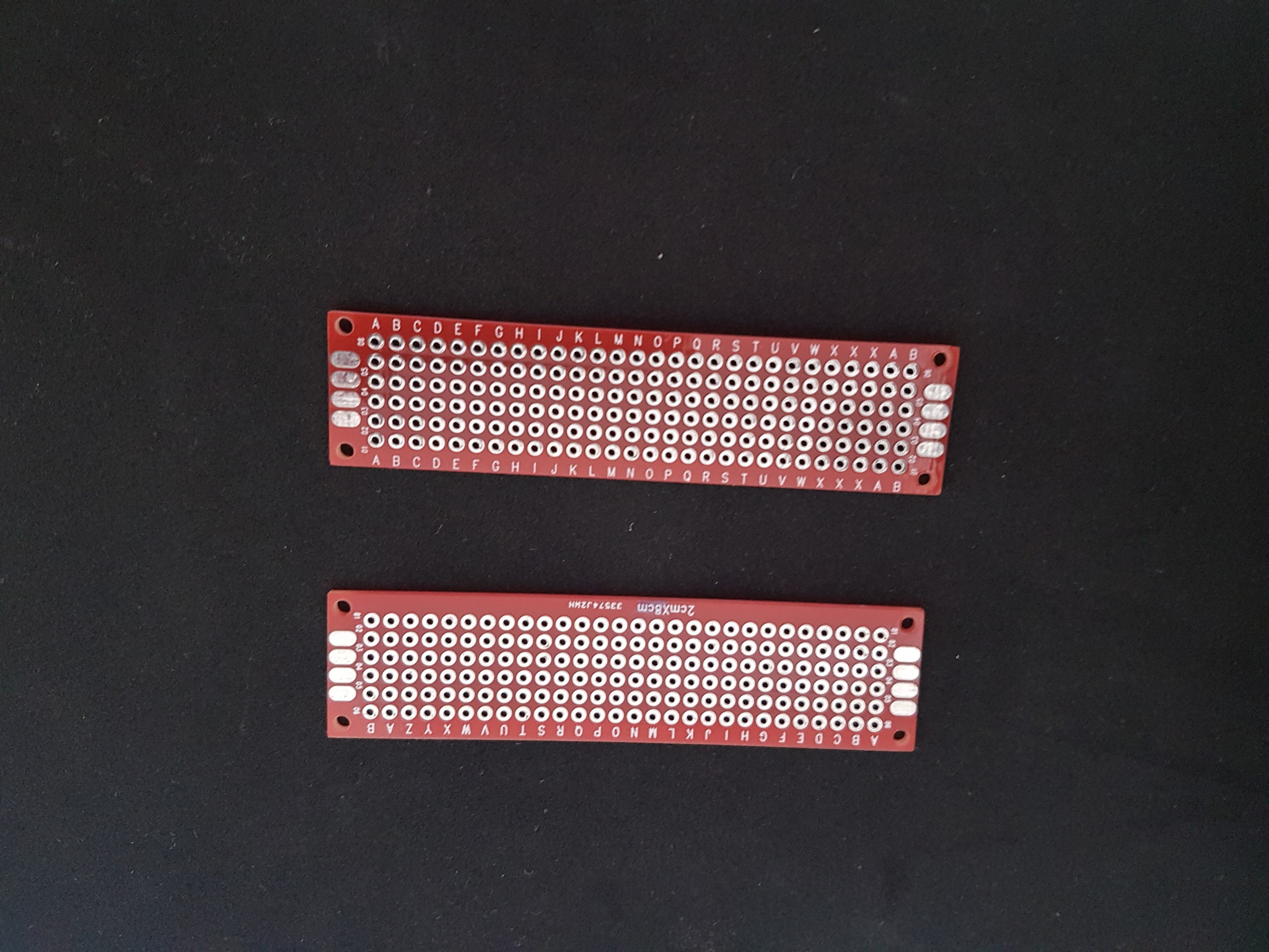 PCB Experiment print Double Sided 2x8cm Red FR4