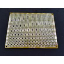 PCB Dubbelzijdig Geel 7x9cm FR4