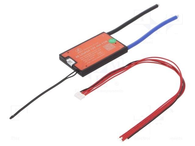 DALY  PCB protection Li-FePO4 75x48x9mm; 40A; 12.8VDC