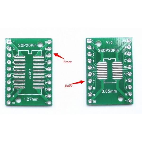 smd naar dip adapter SOP20/SSOP20