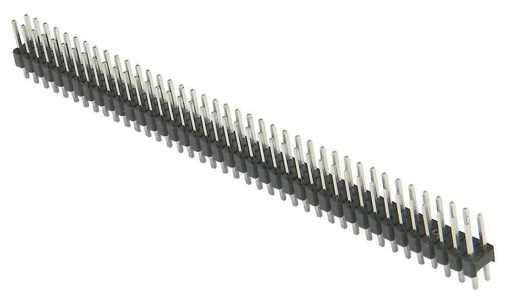 Header male 2x40 pins in verschillende kleuren