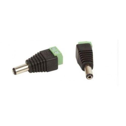 DC Power Plug Male Green 2.1 x 5.5 mm