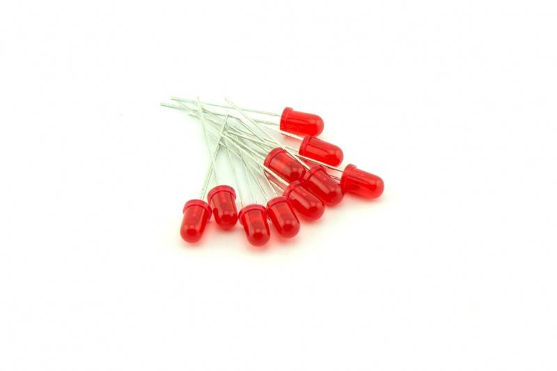 5mm Round Led flasher (flash) Diffuse Red