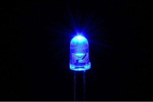 5mm Ronde Led Helder Knipper (Flash) Blauw