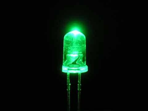 5mm Ronde Led Helder Knipper (Flash) Groen
