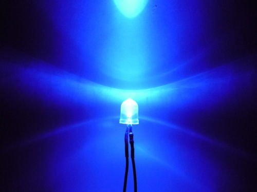 10mm Pre Wired Led Clear Blue