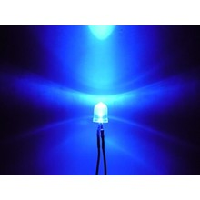 10mm Pre Wired led  blauw helder