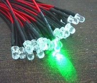 3mm Pre Wired Led Helder Groen Knipper (flash)