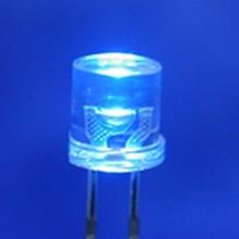 5mm Flat Top Led Clear Blue