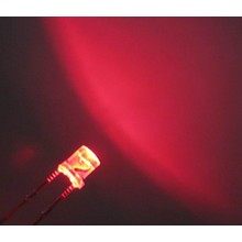 3mm Flat Top Led Helder Rood