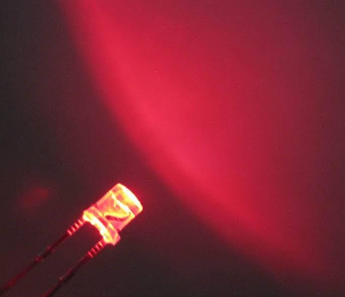 3mm Flat Top Led Helder Rood