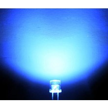 3mm Flat top Led Clear Blue