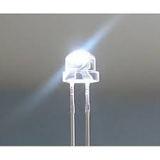 8mm Straw Hat Led Clear Cold White
