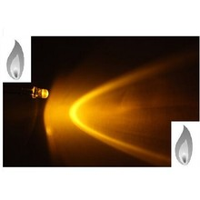3mm Round Led Clear Yellow Candlelight
