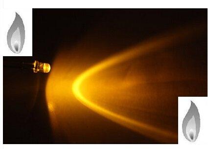 3mm Ronde Led Helder Geel Kaarslicht