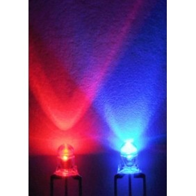 3mm Ronde led Helder Bi-Color Rood/Blauw Common Anode