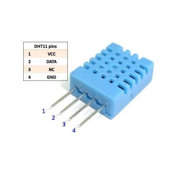 DHT11 Digitale temperatuur en luchtvochtigheidsensor