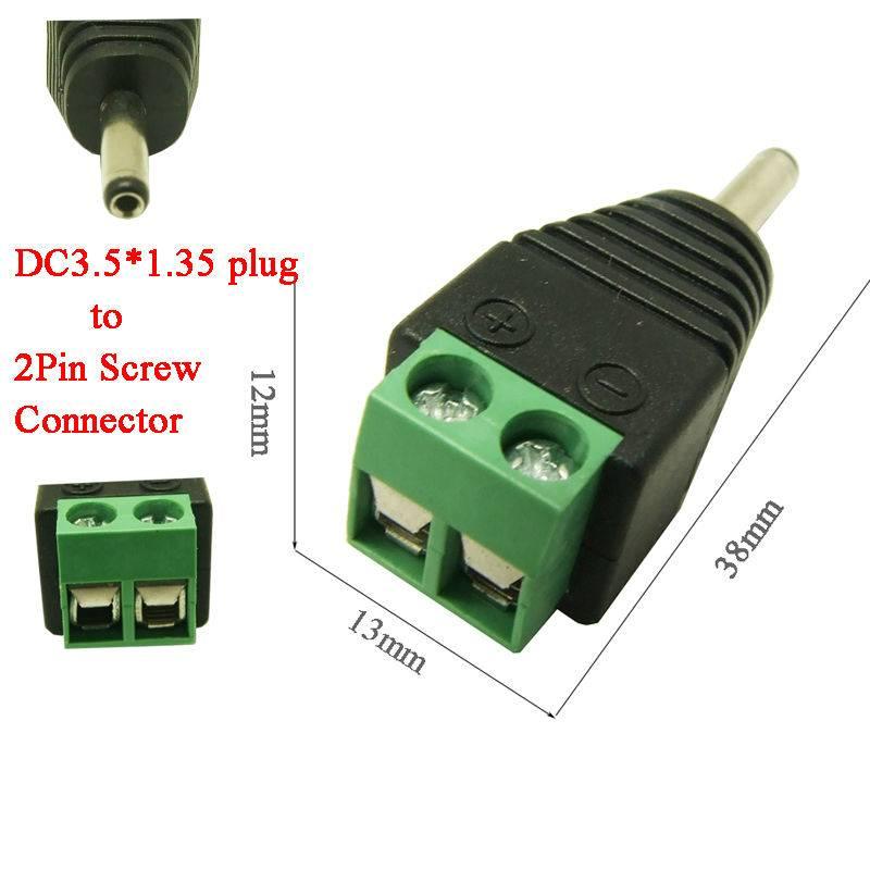 DC Power plug Male en Female 1,35 x 3,5mm