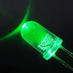 5mm Round Led Clear Green