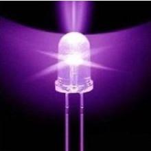 5mm Round Led Purple (UV) Clear