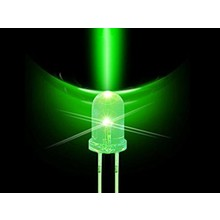 10mm Round Led Green Clear