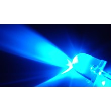 10mm Round Led Blue Clear
