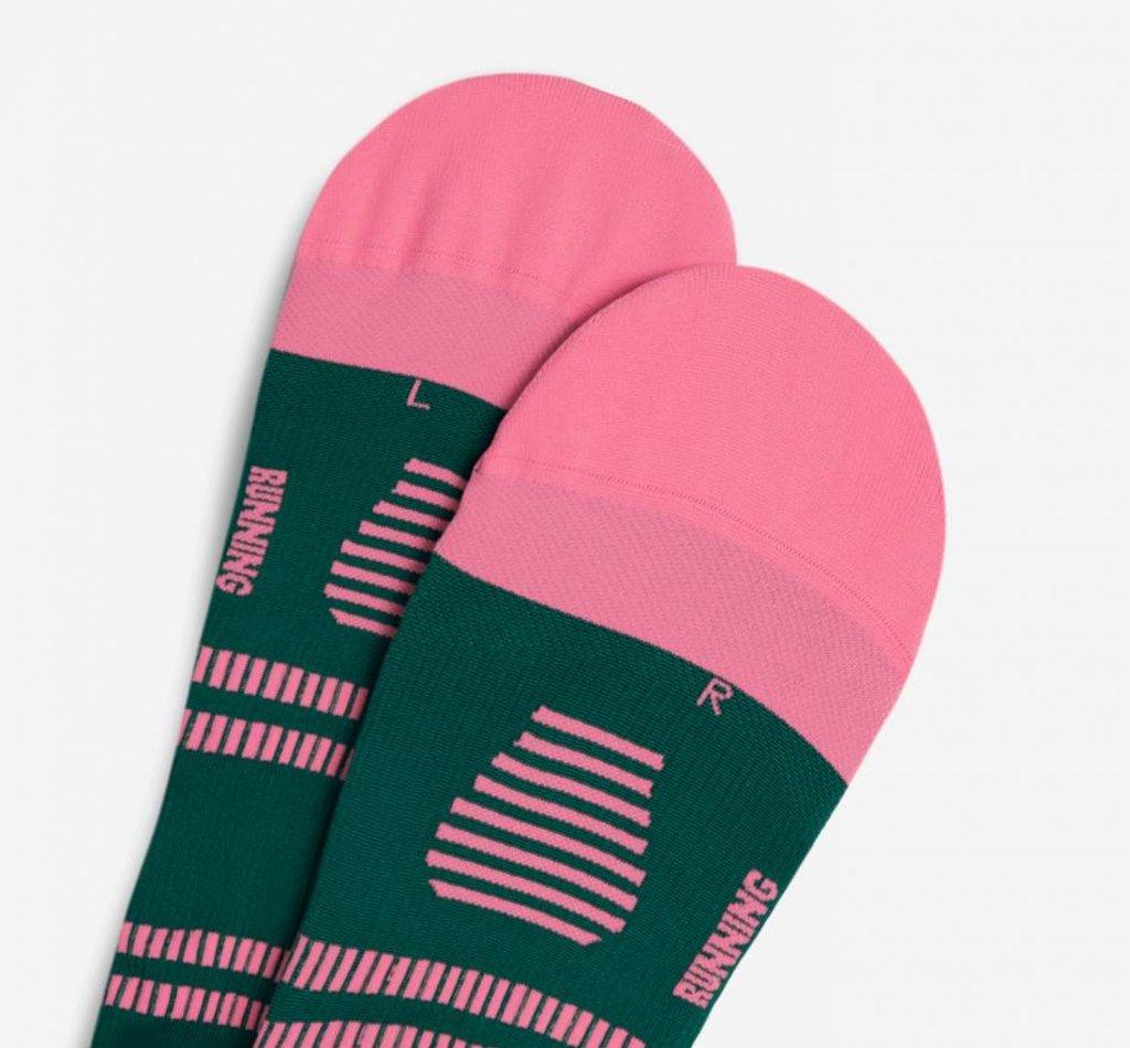 STOX Lightweight Running Socks Vrouwen - Groen / Donker roze