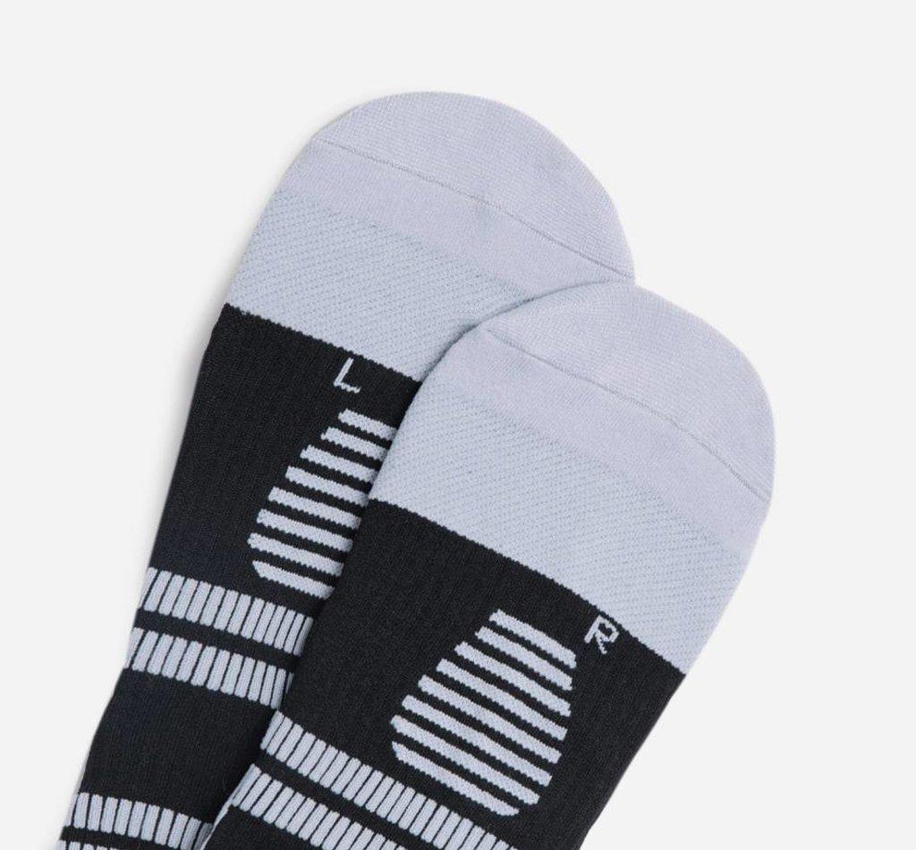 STOX Running Socks Herren - Schwarz / Eisgrau