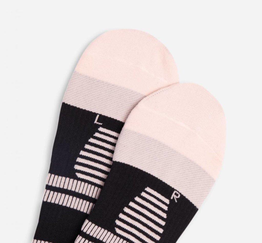 STOX Running Socks Women - Black / Light Pink